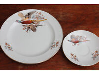 Vintage Pheasant Plate and Saucer Carrigaline Pottery Irish Bird Plate Decorative Plate Display