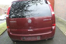 2004 vauxhall meriva 1.6 petrol 16 v breaking for parts