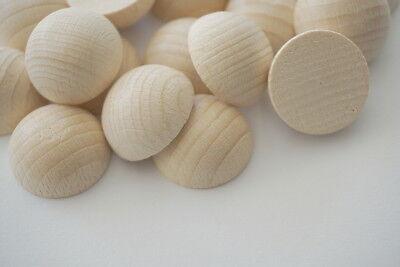Holz Halbkugeln, Buche 25mm Ø 20 Stück, unbehandelt, Bastel- und Gestaltungsholz