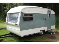 Fully Restored Vintage Cotswold Windrush Caravan. 2 Berth. Beautiful interior, ready to camp. Awning