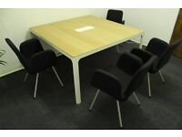 Conference table and four chairs