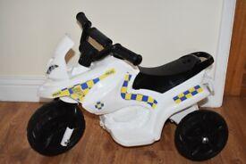 Boys Battery Powered Police Ride on Trike