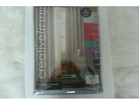 """Creative Living Silver Faux Silk Blackout Curtains 90"""" x 90"""" Eyelet Thermal Lined"""