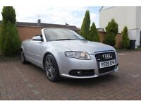 2009 Audi A4 2.0TDI S Line Final Edition Cabriolet, 12 Month MOT, FSH, Bi Xenons, Nav, Leather, Bose
