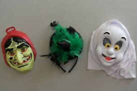 Halloween witches masks and headband