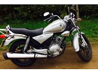Yamaha YBR Custom 125cc! Fantastic Condition! Only 450 Miles! Classic/Retro Look!