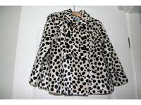 Beautiful Girls Dalmation Print Coat. Age 3-4 yrs. Like New.