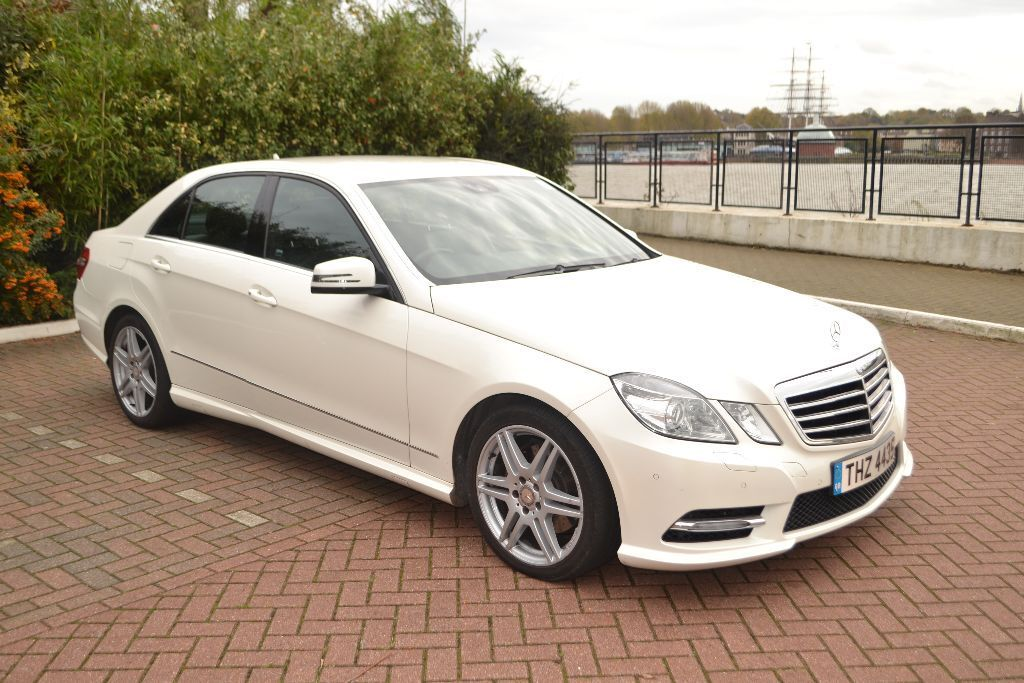 2012 mercedes e class e220 cdi amg in white quick sale ono in mile end london gumtree. Black Bedroom Furniture Sets. Home Design Ideas