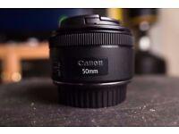 Canon EF 50 mm 1.8 STM Lens
