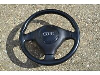 Audi A3 Sport S3 Steering Wheel 8l Leather with airbag complete