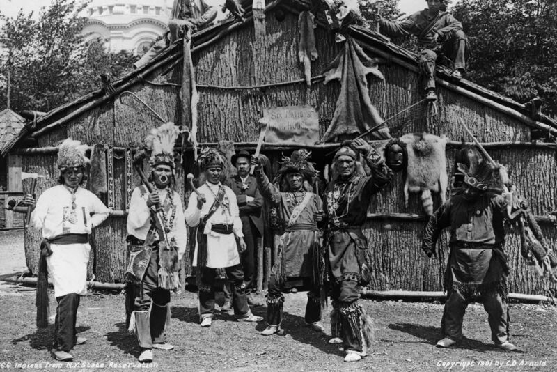 New 5x7 Photo: Native North American Indians from New York State Reservation