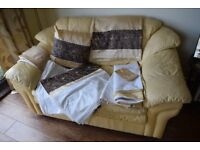 King size Duvet covers, curtains, cushion and trimmings