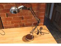 Chrome Angle poise desk lamp