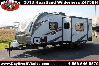 18 Heartland Wilderness 2475BH Travel Trailer Towable RV Camper Bunks Sleeps 8
