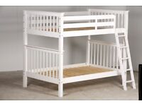 4FT Small Double White Pine Bunk Bed