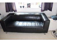 Ikea sofa (Black leather Klippan 2 seater)