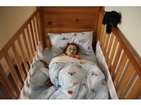 Cotbed/Cot to toddler bed/Malmo/John Lewis/ Excellent condition