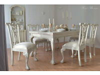 !!! UNIQUE & BEAUTIFUL !!! Antique Shabby Chic Provence Dining Table with Six Chairs ...