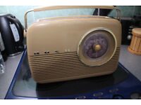 Retro Style BUSH TR82 Radio for Kitchen etc Mains or battery operated