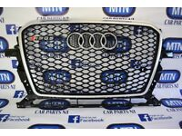 AUDI RSQ5 FRONT GRILL 8R MODEL FACELIFT FITS 2012 - 2017 MODELS BLACK AND SILVER FRAME