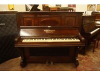 German antique upright piano. UK delivery available. Tuned to concert pitch