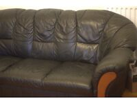 GREAT BIG LEATHER SOFA FOR FREE!!
