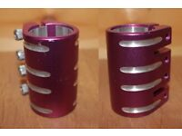 "Blazer Quad Clamp Purple and ECO 1-1/8"" Head Set"