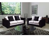 🔥💥❤💗💖BLACK AND SILVER COLOURS🔥💥❤💗💖Double Padded Dylan Crushed Velvet Corner Sofa Or 3+2 Sofa
