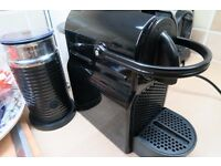 Nespresso magimix black with Aeroccino and capsule holder