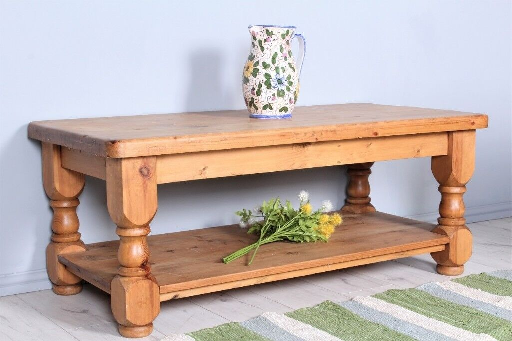 Solid Pine Coffee Table.Delivery Options 4 Ft Solid Pine Coffee Table Heavy Chunky Well Made Waxed In Eastbourne East Sussex Gumtree