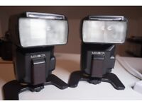 2 Minolta 5600HSD flashguns,same as Sony HVL F56AM ,fully working.£65 each or £120 the pair.
