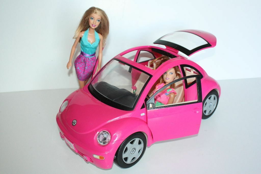 Pink Vw Bug >> Barbie Hot Pink VW Beetle Volkswagen Bug Car, Car Key and Barbie Doll Toy | in Durham, County ...