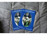 Two Gary Armstrong Tribute Dinner Programmes.