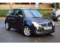 2009 SUZUKI SWIFT GLX 1.5 3 DOOR BLACK*3 MONTHS WARRANTY*RECOVERY & BREAKDOWN COVER*LOW MILEAGE*