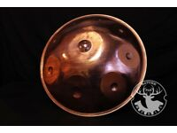 Copper handpan- La'Sirena scale, NaturePan,handmade