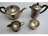 ART DECO SILVER PLATED TEA SET