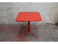 Ikea Table Outdoor Garden Funiture Red Metal Lightweight Tunholem