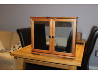 Bathroom Cabinet with mirror - Pine wood frame