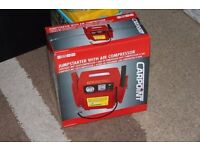 NEW - Carpoint 0177707 Jumpstarter with Air Compressor 12 V 900A
