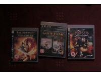 ps3 playstation game bundles: ninja gaiden, god of war collection, heavenly sword