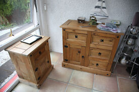 set of very smart wooden cabinets
