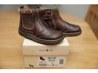 TODDLER BOYS BROWN LEATHER BOOTS Startrite size 5.5F WITH BOX