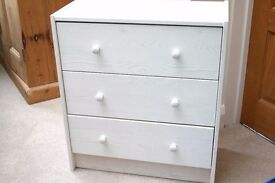 IKEA RAST white small chest of 3 drawers. Solid wood! (pine)