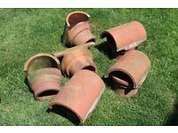 Reclaimed Terracotta Red Chimney Pot Cowls / Hoods