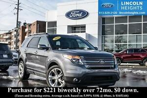 2013 Ford Explorer ECOBOOST - LEATHER - BLUETOOTH - REVERSE CAME