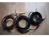 3x electric guitar lead / cable (Monster, gplugs)