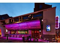 Soho Liverpool - Bar Tenders, Barback/ Glass collector , Waitress/ Table Service Jobs