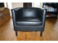 Ikea Black Armchair