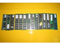 Samsung, HP etc. PC, PC2 various 256MB,512MB, 1Gb PC RAM 14pc.