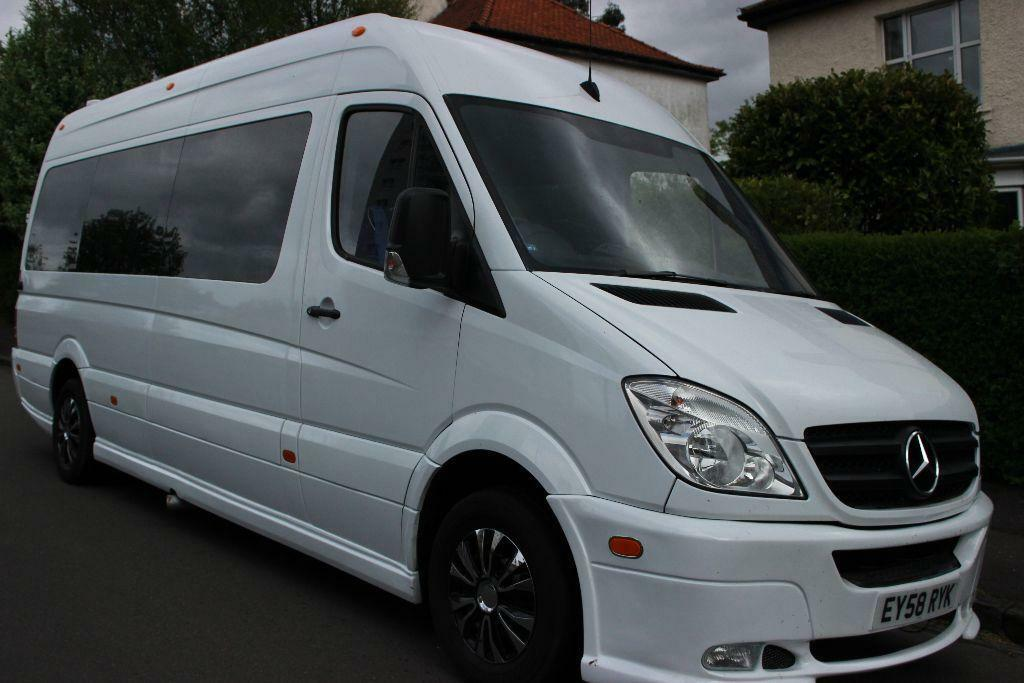 16 seat Mercedes minibus for hire